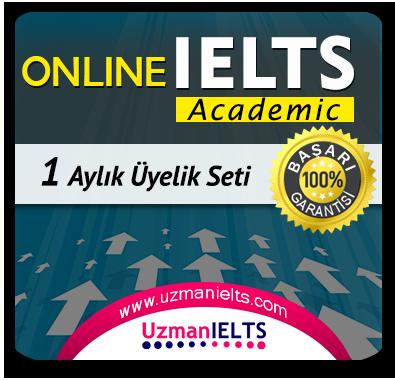 1 Aylık Üyelik Seti (IELTS Academic)