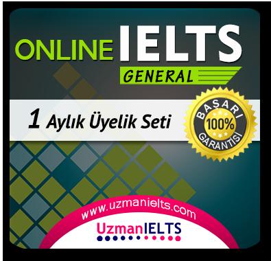 1 Aylık Üyelik Seti (IELTS General)