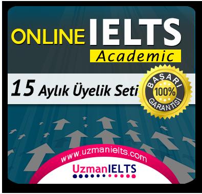 15 Aylık Üyelik Seti (IELTS Academic) + 15 Aylık Genel İngilizce Seti (MyKelime.com)