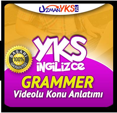 YKS İngilizce Grammer Çalışmaları