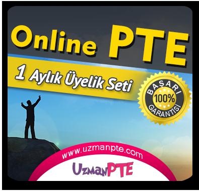 1 Aylık Üyelik Seti (PTE Academic)