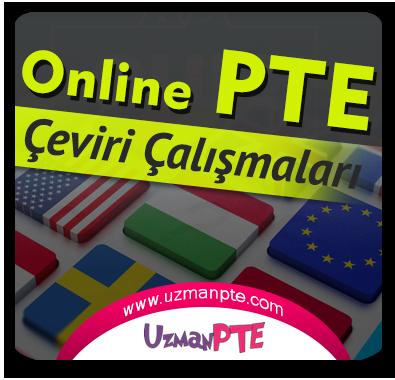 PTE Academic Çeviri Çalışmaları