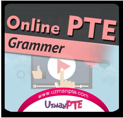 PTE Academic Grammer Çalışmaları