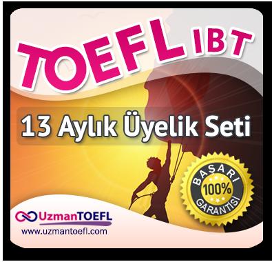 13 Aylık Üyelik Seti (TOEFL IBT) + 13 Aylık Genel İngilizce Seti (Temeldeningilizce.com)