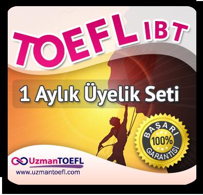 1 Aylık Üyelik Seti (TOEFL IBT)