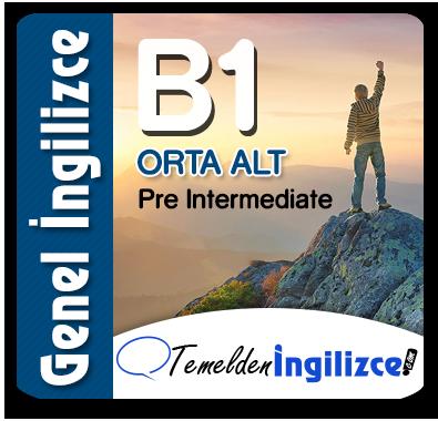 B1 - Pre-Intermediate (Orta-Alt)