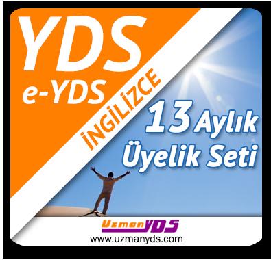 13 Aylık Üyelik Seti (YDS / e-YDS) + 13 Aylık Genel İngilizce Seti (Temeldeningilizce.com)